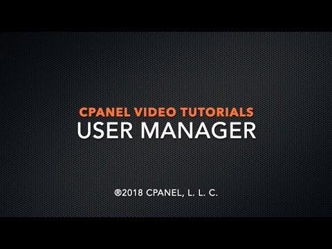 cPanel Tutorials – User Manager