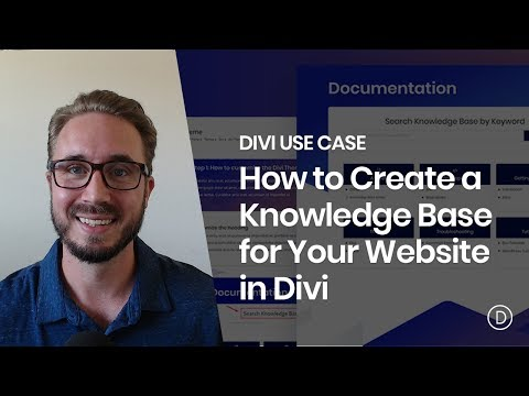 How to Create a Knowledge Base for your Website with Divi