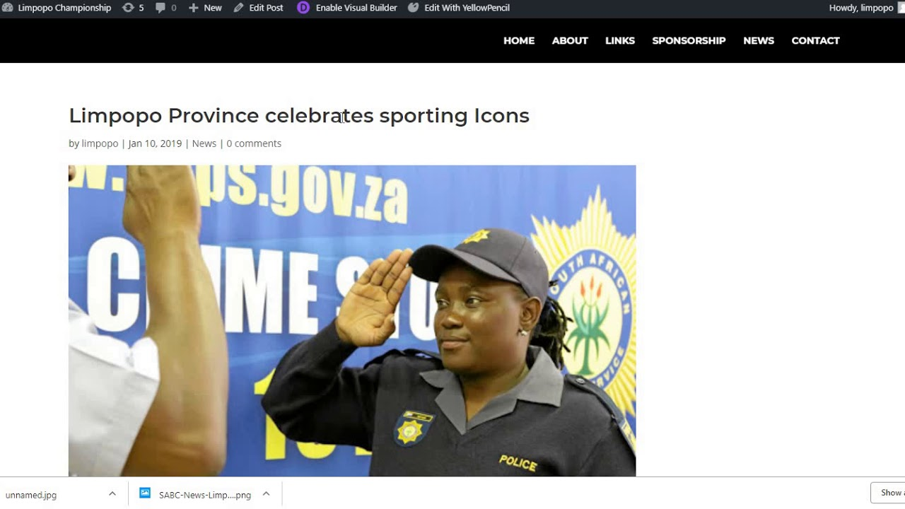 How To Make A Blog Post – Divi Builder – Limpopo Championship Website